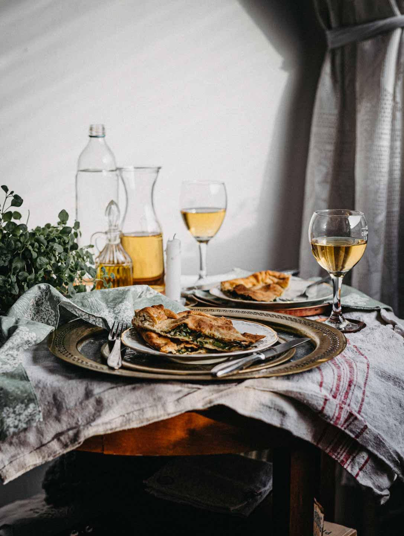 Soparnik, traaditional croatian chard pie, vegan