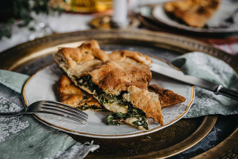 Soparnik, traditional croatian chard pie, vegan